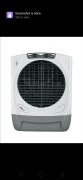 Maharaja Whiteline Rambo air cooler 65 ltr White and grey 65 ltr