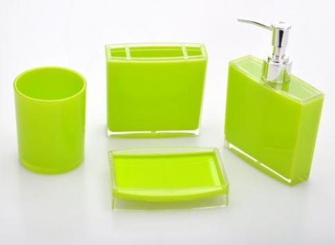 GREEN Bathroom Set Stand Soap Dispenser