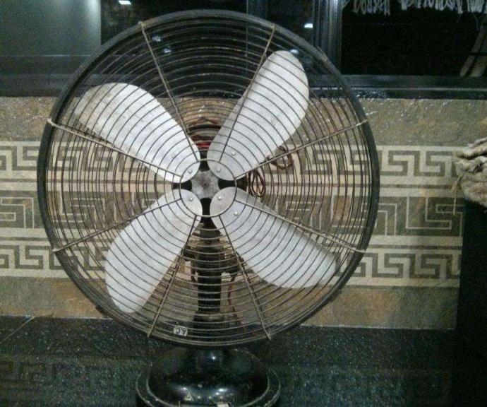 Table fan - Branded Metallic