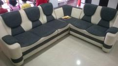 Fabric Sofa set Used Same as new condition 5 seater and Corner