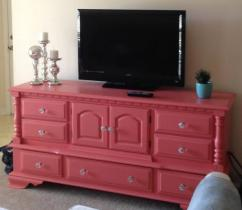 Cabinet For TV In Pink Color Available