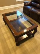 Center Table With Glass On Top Available