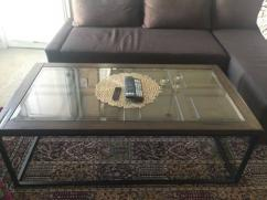 Centre Table With Glass On Top