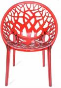 Unused Fibre Chair In Red Color