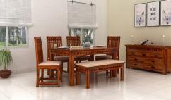 Buy solid wood dining table set online at Low Price