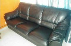 Sofa Set In Black Color Available