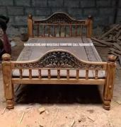 Wooden cot double 6 by 4