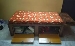wooden divan bed with box