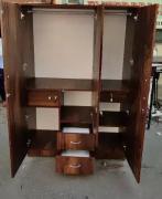 Brand New 3 Doors wardrobe Brown colour