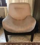Teak wood frame 2 single seater sofa chairs