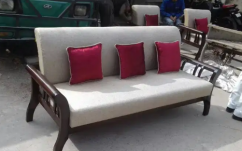 Designer wooden sofa set in teak wood