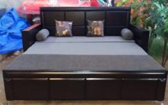Brand new wooden designer sofa cum bed with box