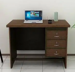 Study Table with Drawers in Brown Color