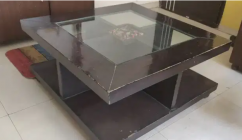 Center Table with  glass top