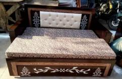 Designer sofa cum bed  with bonded mattress