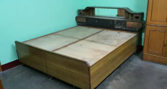 Bed come box with back