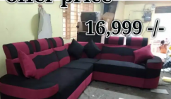 Corner sofa set at offer price own manufacturing