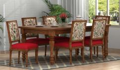 Solid wooden dining table set
