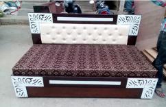 Designer wooden diwan cum bed with mattress