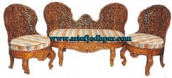 Hand carved sofa set