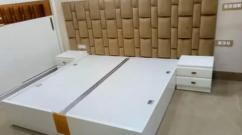 Brand new dibbi desigen King size bed with side table