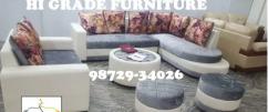 brand new designer creme shade large corner sofa