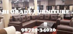 Corner Set in Coffee Imported Suade 11 Seater Set with Table