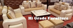 brand new brown and creme corner sofa with center table