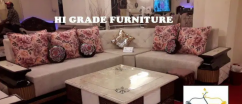 Brand new designer six seater pink and creme l shape 10 SEATER