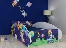 navy blue cartoon kids bed for rent