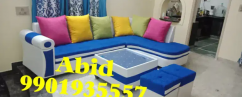 Top branded double color fabric corner sofa set 3 year warranty m 1