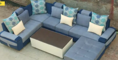brand new U shape sofa set with stylish center table & couch