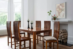 Brand new solid wooden six seater dining set