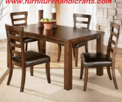 Brand new solid wooden four seater dining set