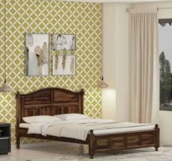 Brand new solid wooden double bed