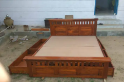 Brand new solid wooden furniture box bed