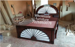 Wooden had and button storage cot manufacturer wholesale furniture