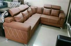 Corner sofa made with sweat leather          Belagavi