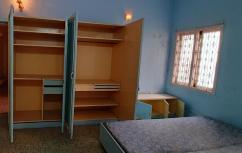 Teak Wood cupboards with cot