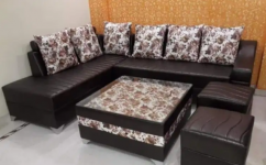 awesome L shape sofa set with table