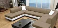 Brand new U shape sofa set with table affordable price