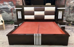 Brand new platform bed with side table