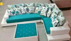 Brand new L shape sofa set with table