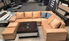 Brand new attractive L shape sofa set with center table