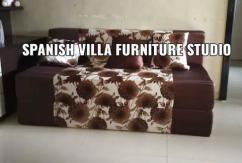 Fresh color new Sofa cum bed fold-able recliner footrest divan