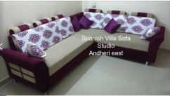 L corner 5 seater sofa set with exclusive look in fabric