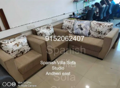3 seater sofa with 2 chair sofa set in fabric