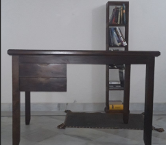 Wooden study desk with 2 drawers