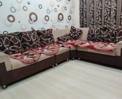 L shape 7 seater corner fabric sofa
