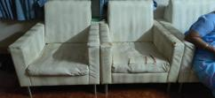 Single seater white sofa